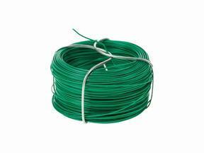 Bindedraht für Kunsthecke, plastifiziert grün 1,2 mm - Spule 25 m