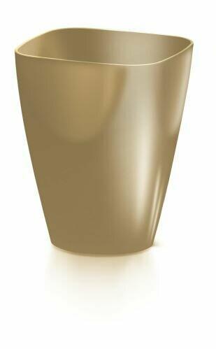 Blumentopf COUBI ORCHID quadratischer Kaffee mit Milch 13,2 cm