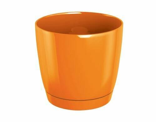 Blumentopf COUBI ROUND P rund mit Schale orange 21cm