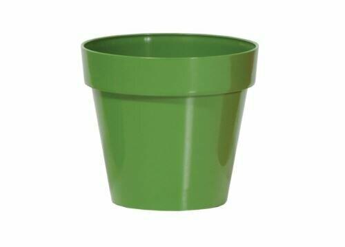 Blumentopf CUBE SHINE dunkelgrün glänzend 17cm