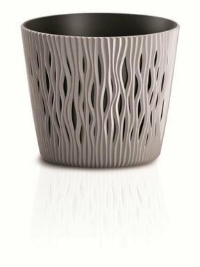 Blumentopf mit SANDY ROUND mocca 26,2 cm