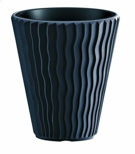 Blumentopf SANDY + anthrazit Einlage 29,7 cm