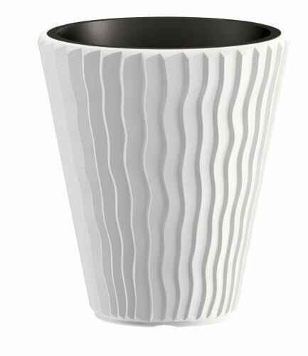 Blumentopf SANDY + Pfand weiß 29,7 cm