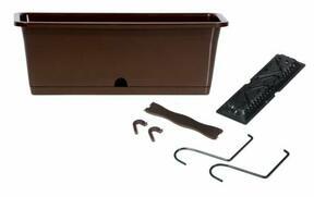 Box CAMELIA W mit Haken dunkelbraun 50,8 cm