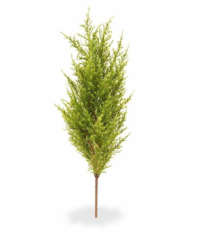 Kunstbaum Zypresse grün-gelb 56 cm