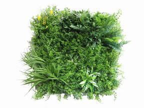 Künstliche Blumenplatte Dschungel - 50x50 cm