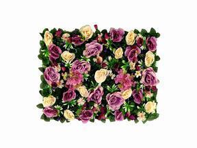Künstliche Blumentafel Rose und Hortensie - 40x60 cm