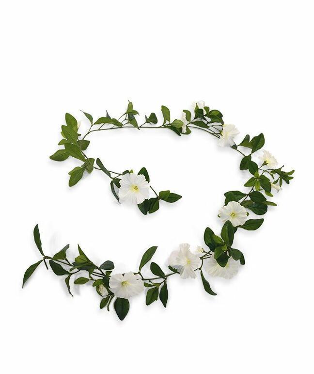 Künstliche Girlande Petunia Creme 180 cm