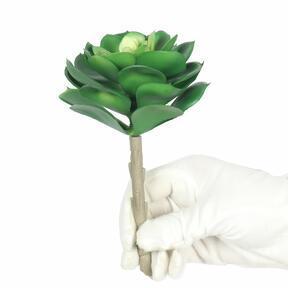 Künstliche Lotuspflanze Esheveria grün 15,5 cm