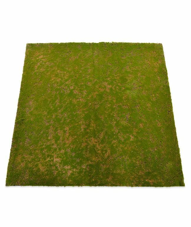 Künstliche Moosmatte 100 x 100 cm - grün