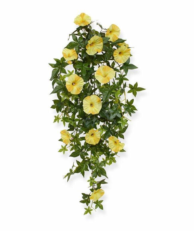 Künstliche Petunienranke gelb 70 cm