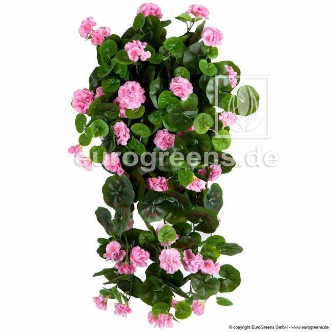 Künstliche Ranke Geranie rosa 70 cm