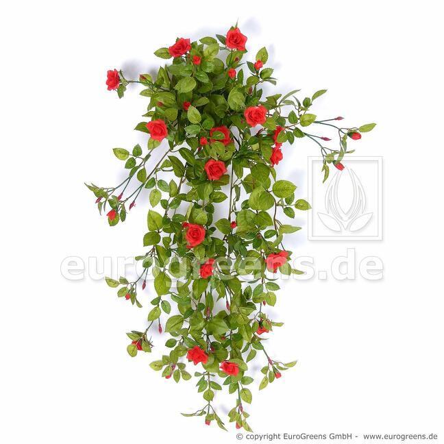 Künstliche Ranke Rose rot 85 cm