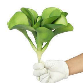 Künstliche Wüstenrose grün 25,5 cm