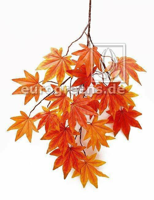 Künstlicher Ast Ahorn orange-rot 80 cm