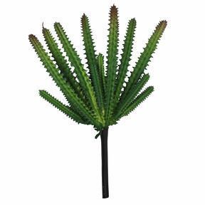 Künstlicher Kaktus dunkelgrün 21 cm