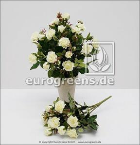 Künstlicher Rosenstrauß weiß 25 cm