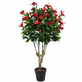 Künstlicher roter Hibiskus 135 cm