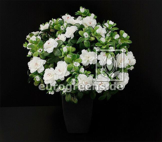 Künstlicher Strauß Belgische Azalee weiß 40 cm