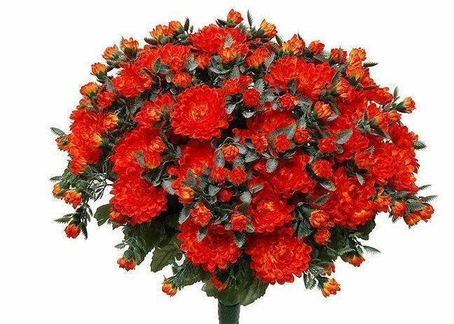 Künstlicher Strauß Chrysantheme orange 35cm