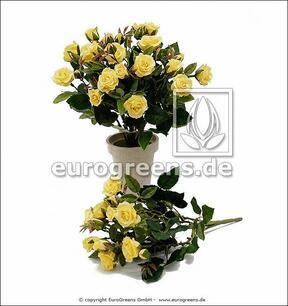 Künstlicher Strauß Gelbe Rose 25 cm
