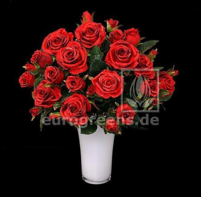 Künstlicher Strauß roter Rosen 50 cm