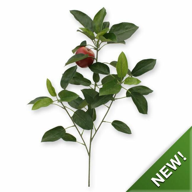 Künstlicher Zweig Apfelbaum mit Apfel 72 cm