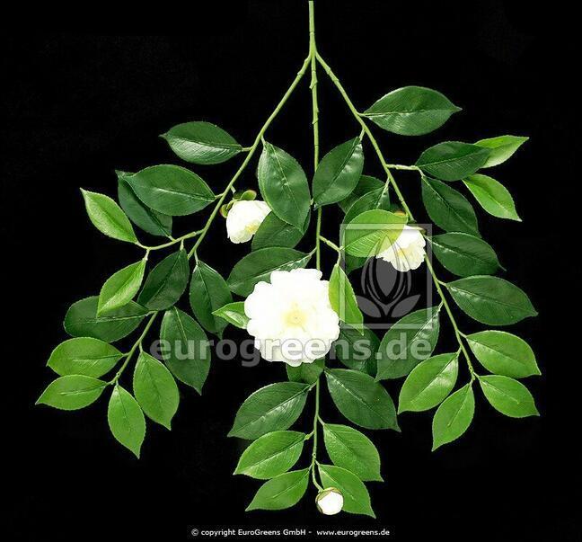 Künstlicher Zweig Gardenie mit Blüten und Knospen 55 cm