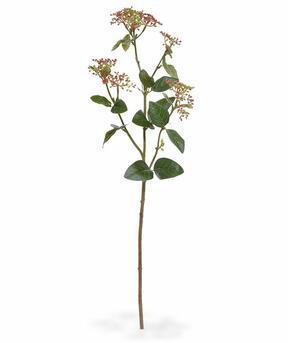 Künstlicher Zweig Kalina Lorbeer Blattrot 81 cm