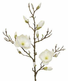 Künstlicher Zweig Magnoliencreme 100 cm