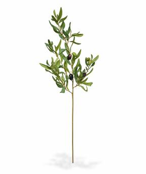 Künstlicher Zweig Olivenbaum mit Oliven 85 cm