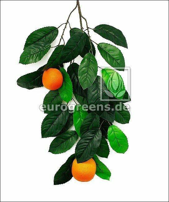 Künstlicher Zweig Orange mit Beeren
