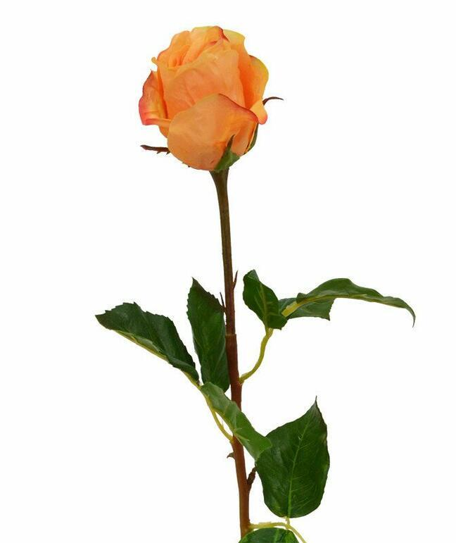 Künstlicher Zweig Rose orange 52 cm