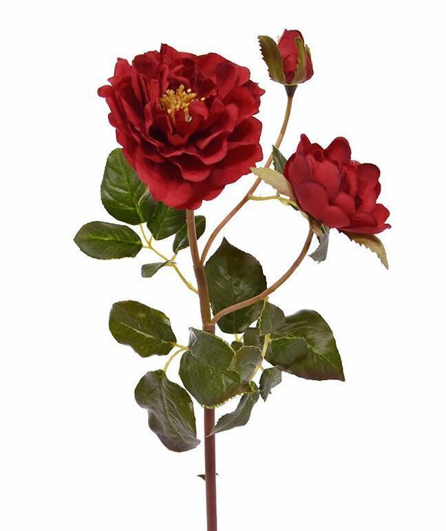 Künstlicher Zweig Rote Rose 50 cm