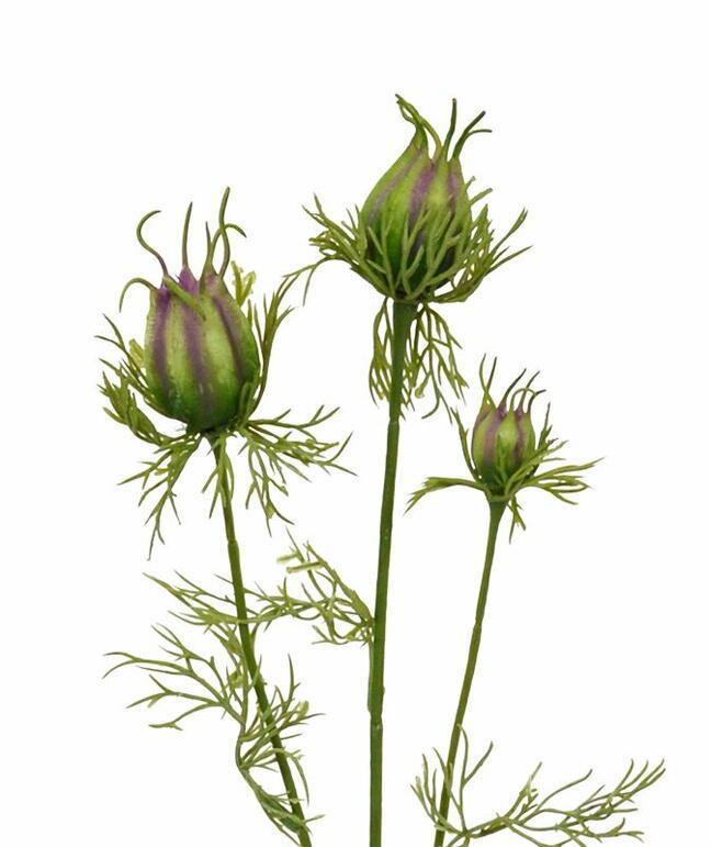 Künstlicher Zweig Schwarz-Grün-Violett 55 cm