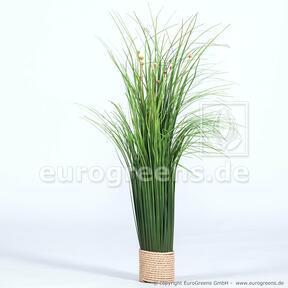 Künstliches blühendes Grasbündel 55 cm