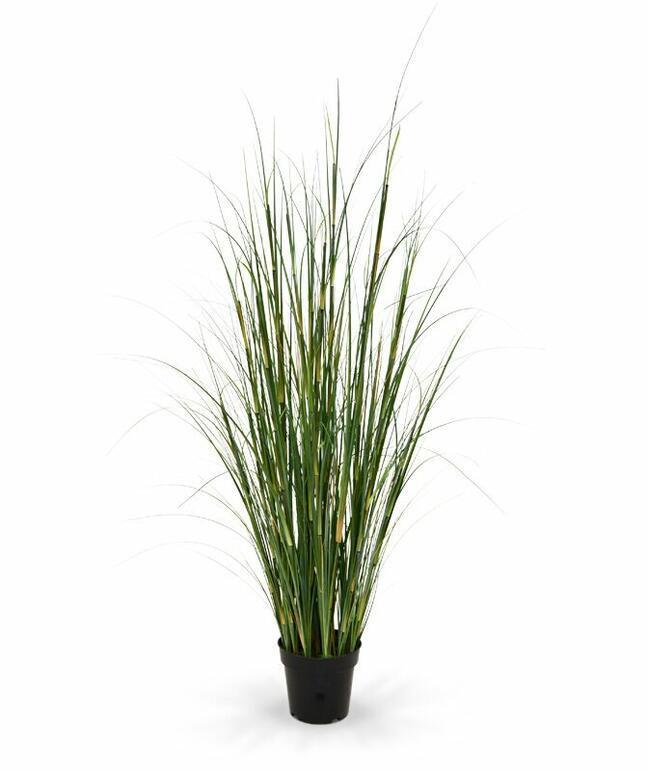 Künstliches Bündel Bambusgras in einem Blumentopf 80 cm