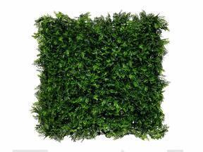 Künstliches dunkelgrünes Laubpaneel Farn - 50x50 cm