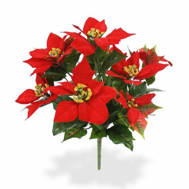 Kunstpflanze Christrose rot 40 cm
