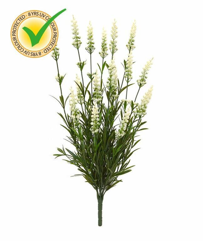 Kunstpflanze Lavendel weiß 50 cm
