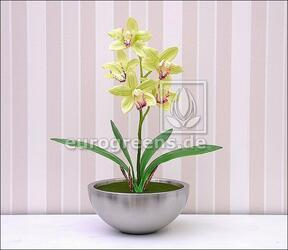 Kunstpflanze Orchidea Cymbidium hellgrün 50 cm